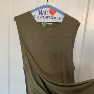 Olive tunic maxi dress by T Alexander Wang